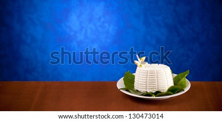 A typical Italian Dairy Product - Ricotta - stock photo