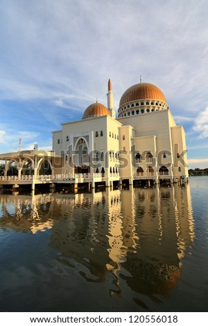 A typical Muslim mosque in Malaysia - stock photo