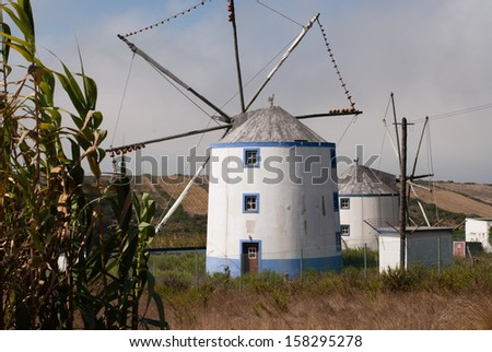 A typical Portuguese windmill in Sintra