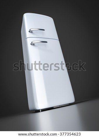 A typical refrigerator point of view from below
