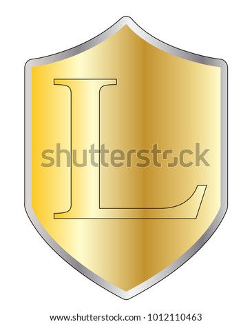 Typical Shield 50 Roman Numerals All Stock Illustration 1012110463