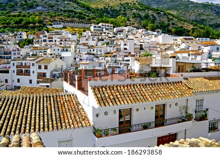 A typical Spanish village. Province of Andalusia  - stock photo
