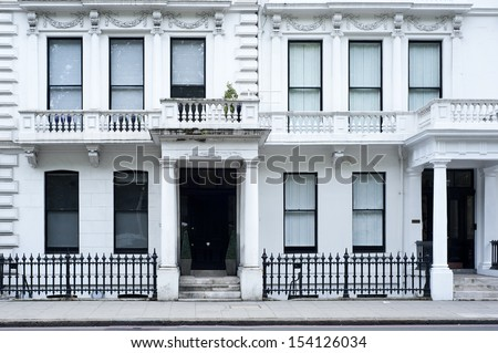 A typical Victorian residential building in London - stock photo