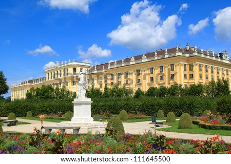 A UNESCO World Cultural Heritage: Schloss Schoenbrunn Palace, Vienna - Austria - stock photo