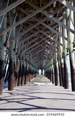A unique perspective under the boardwalk.