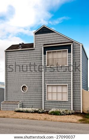A vacation house on the California coast - stock photo