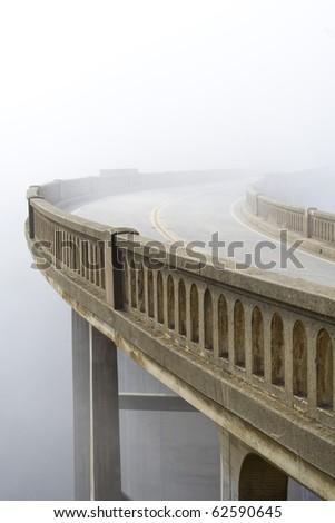 A vanishing roadway. - stock photo