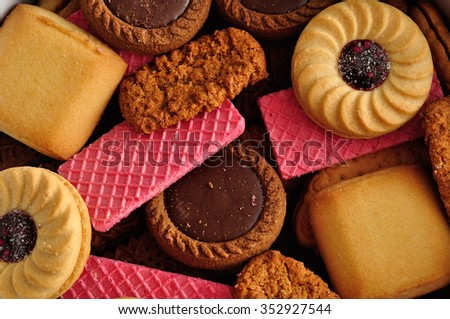 A variety of biscuits