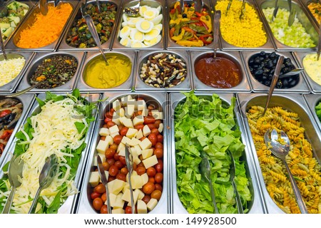 A variety of salads - stock photo
