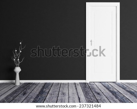 a vase near the door - stock photo