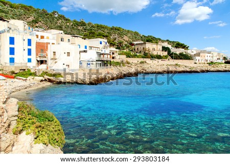 A veiw of Levanzo Island, Sicily, Italy - stock photo