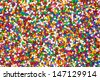 A very close view of colorful candy sprinkles. - stock photo