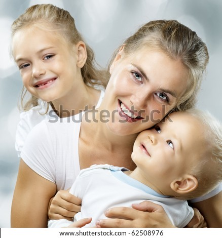 a very happy nice family get together - stock photo