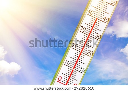 A very hot, sunny day in summer - stock photo
