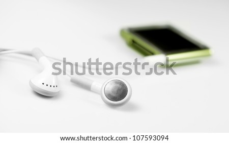 A very little and technological mp3 player - stock photo