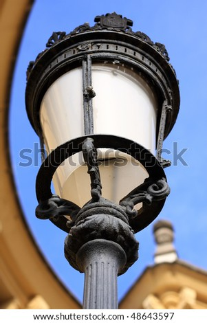 A very nice old lamp harmonious composition