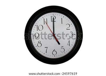 A very nice shot of a clock showing 5 O'clock - stock photo