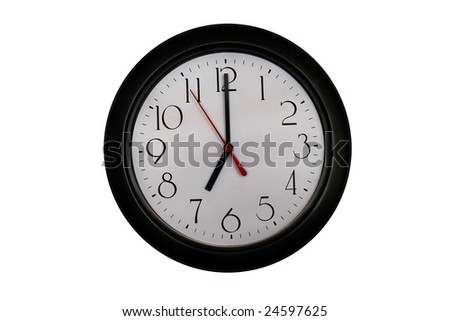 A very nice shot of a clock showing 7 O'clock - stock photo