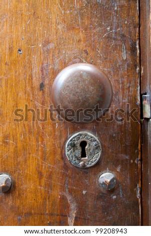 Very Old Door Handle Lock On Stock Photo 99208943 - Shutterstock