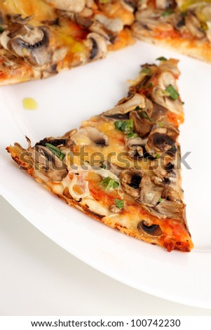 A very tasty pizza on the table