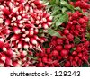 A very tasty radish aspect-useful natural texture.... - stock photo
