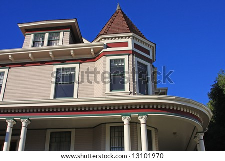 A Victorian home in Southern California. - stock photo