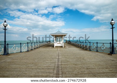 A victorian seaside pier at Swanage in Dorset - stock photo