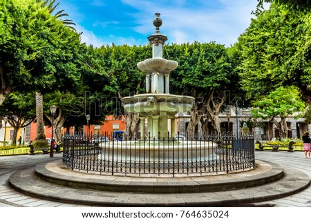 A view across the Adelantado Square in San Christobal de La Laguna, Tenerife on a sunny day