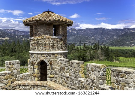 A view from an old castle - stock photo