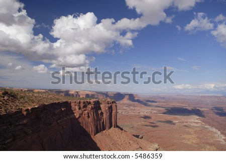 A view from Buck Canyon Overlook in Canyonlands National Park