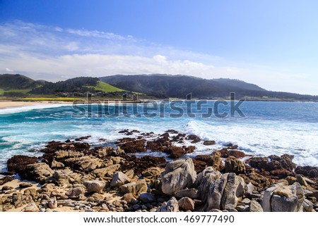 A view from the shore in Carmel