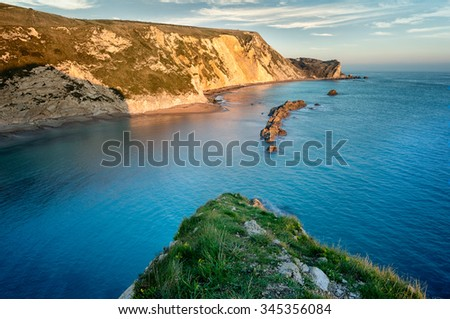 A view from the top of Man of war bay, Dorsetm England, United Kingdom