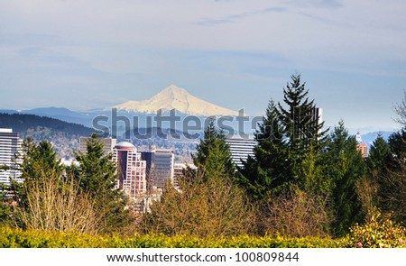 A View from the Washington park Portland - stock photo