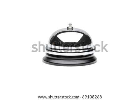 A view of a reception bell isolated on white background - stock photo