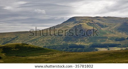 A view of a Scottish landscape - stock photo