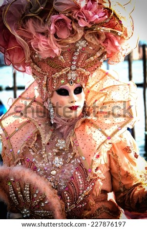 A view of a Venice carnival mask