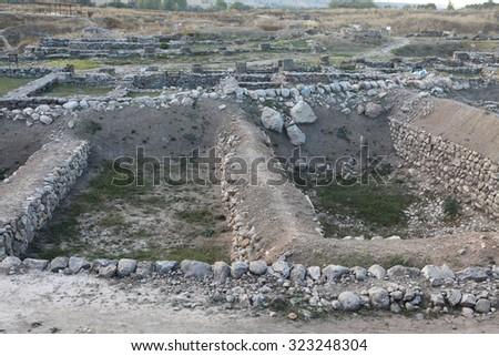 A view of Alacahoyuk, Turkey. - stock photo