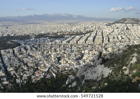 A View of Athens from Likavittos Hill, Greece