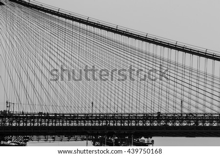 A view of Brooklyn bridge with Manhattan bridge in the background
