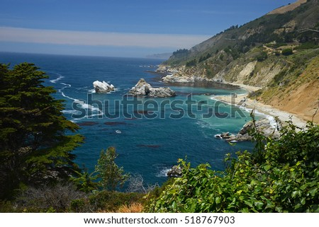 a view of california coast highway