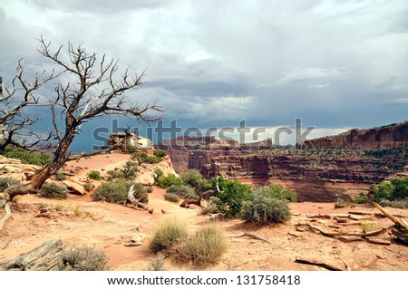 A view of Canyon lands National Park - stock photo