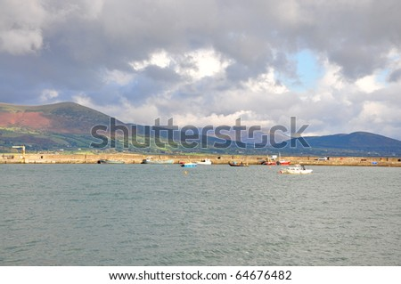 A view of Carlingford Lough - stock photo