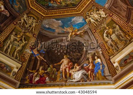 Ceiling Painting Stock Royalty Free & Vectors