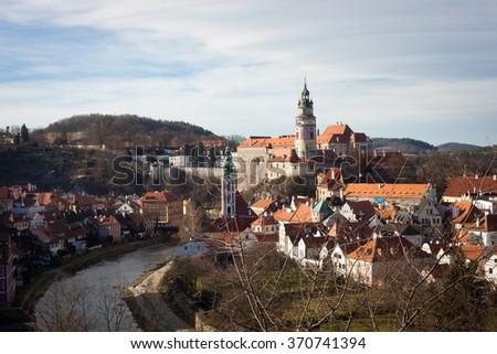 A view of Cesky Krumlov, Czech Republic - stock photo