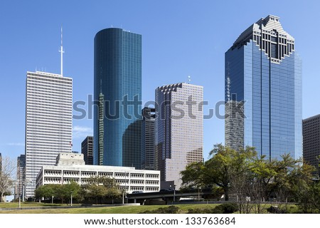 A View of Downtown Houston, Texas