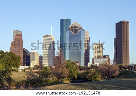 A View of Downtown Houston, Texas - stock photo