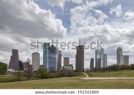 A View of Downtown Houston, Texas - stock photo