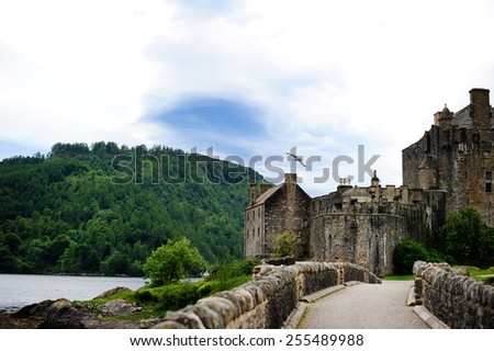 A view of Eilean Donan Castle, Scottish Highlands