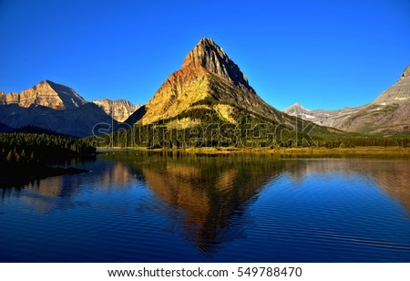 A view of Grinnell Point at Glacier National Park