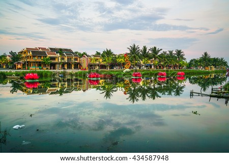 A view of Hoi An Ancient town, Vietnam on one early morning